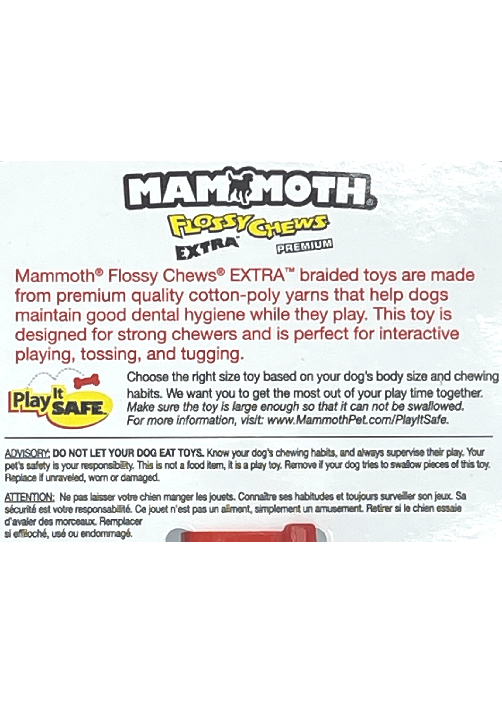 Mammoth Mammoth Flossy Chews Extra Two Knot Rope Small