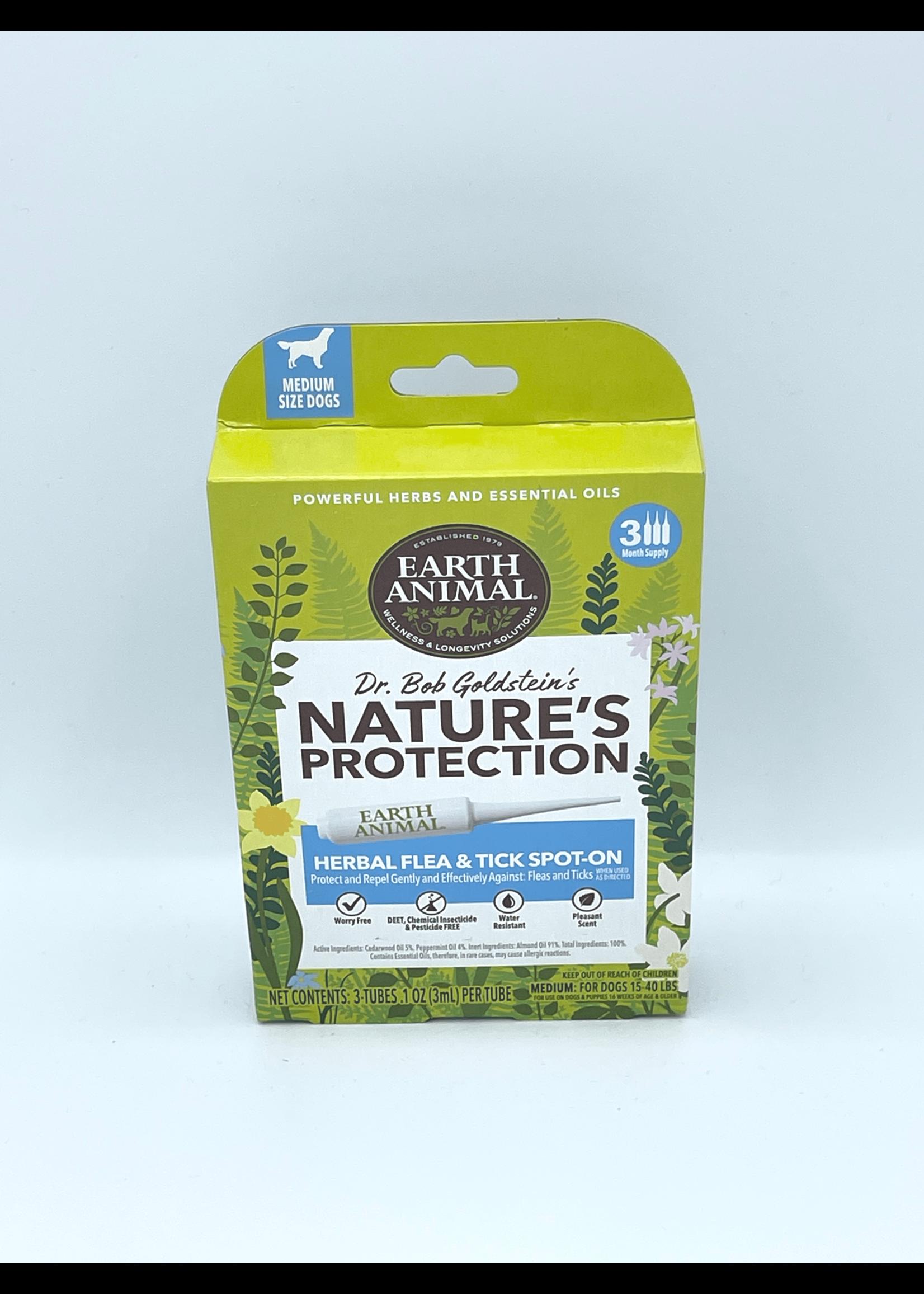 Earth Animal Earth Animal Dog Nature's Protection Spot Flea & Tick, Medium Dogs