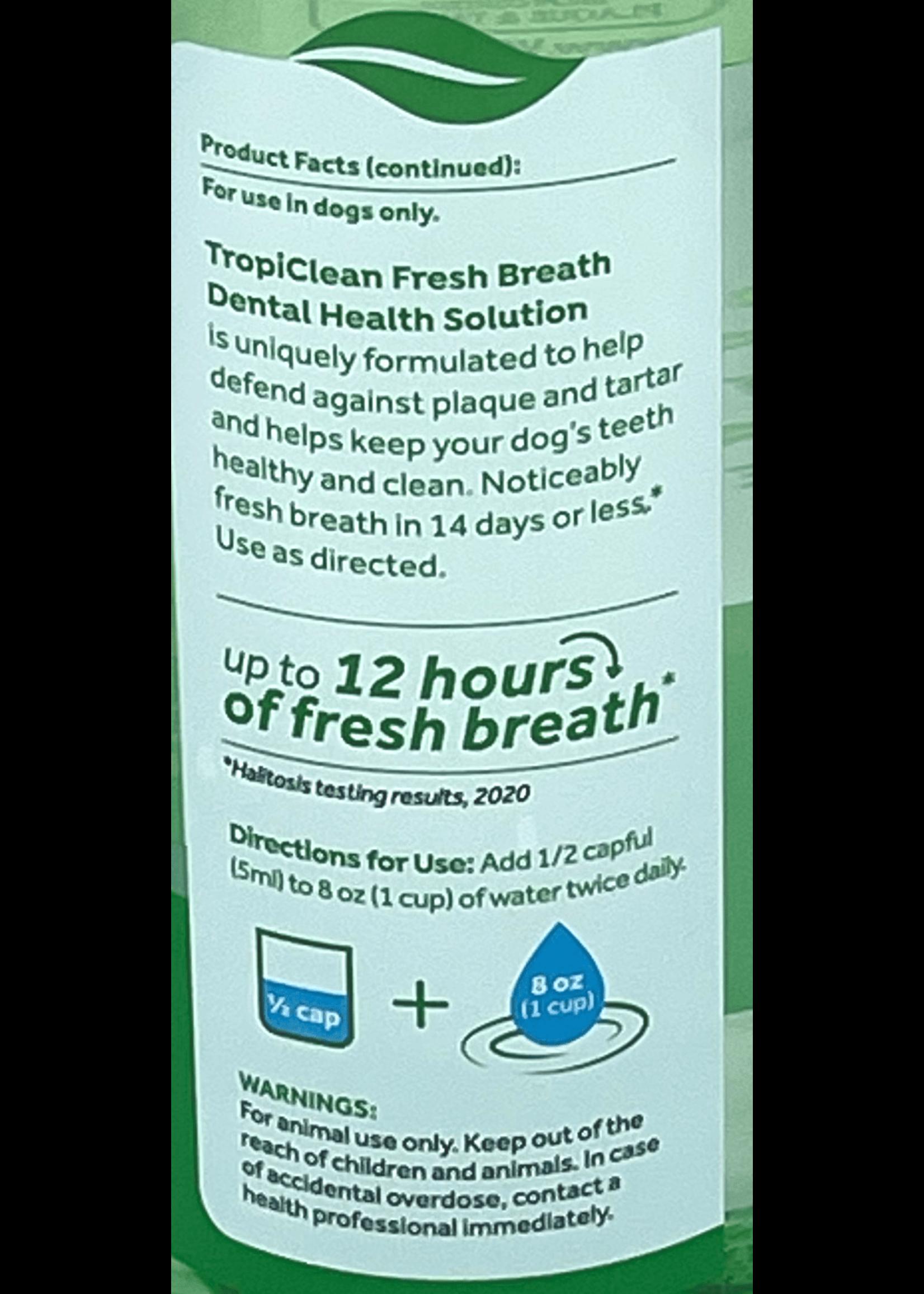 TropiClean Fresh Breath Dog Dental Health 16oz
