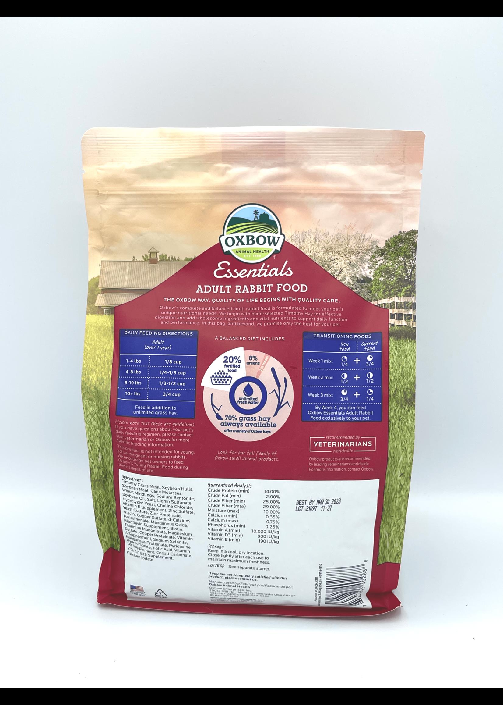 Oxbow Oxbow Essentials Adult Rabbit Food, 5lb bag