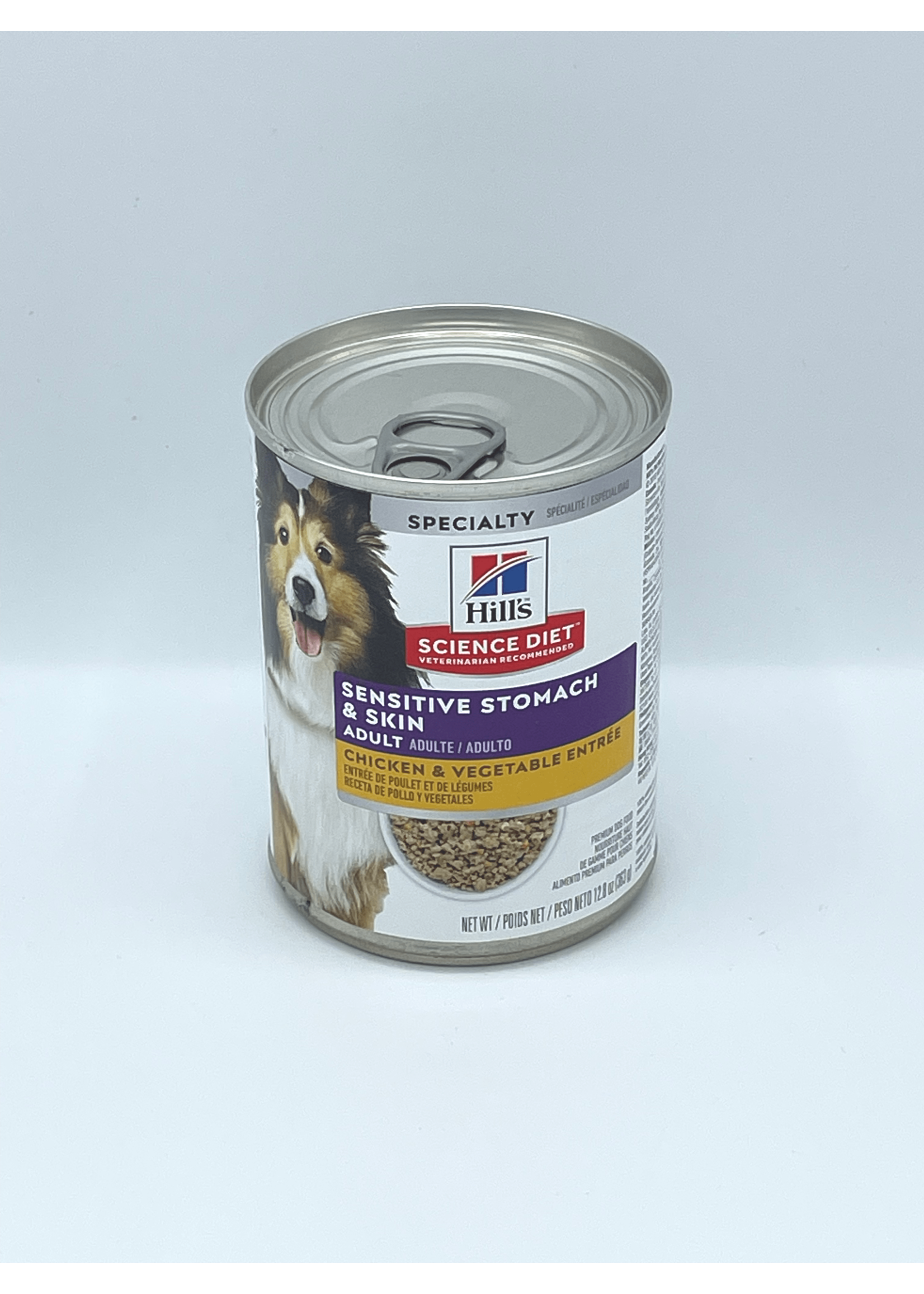 Hill's Science Diet Hill's Science Diet Adult Sensitive Stomach & Skin Chicken & Vegetable Entree, Dog Food, 12.8oz Cans