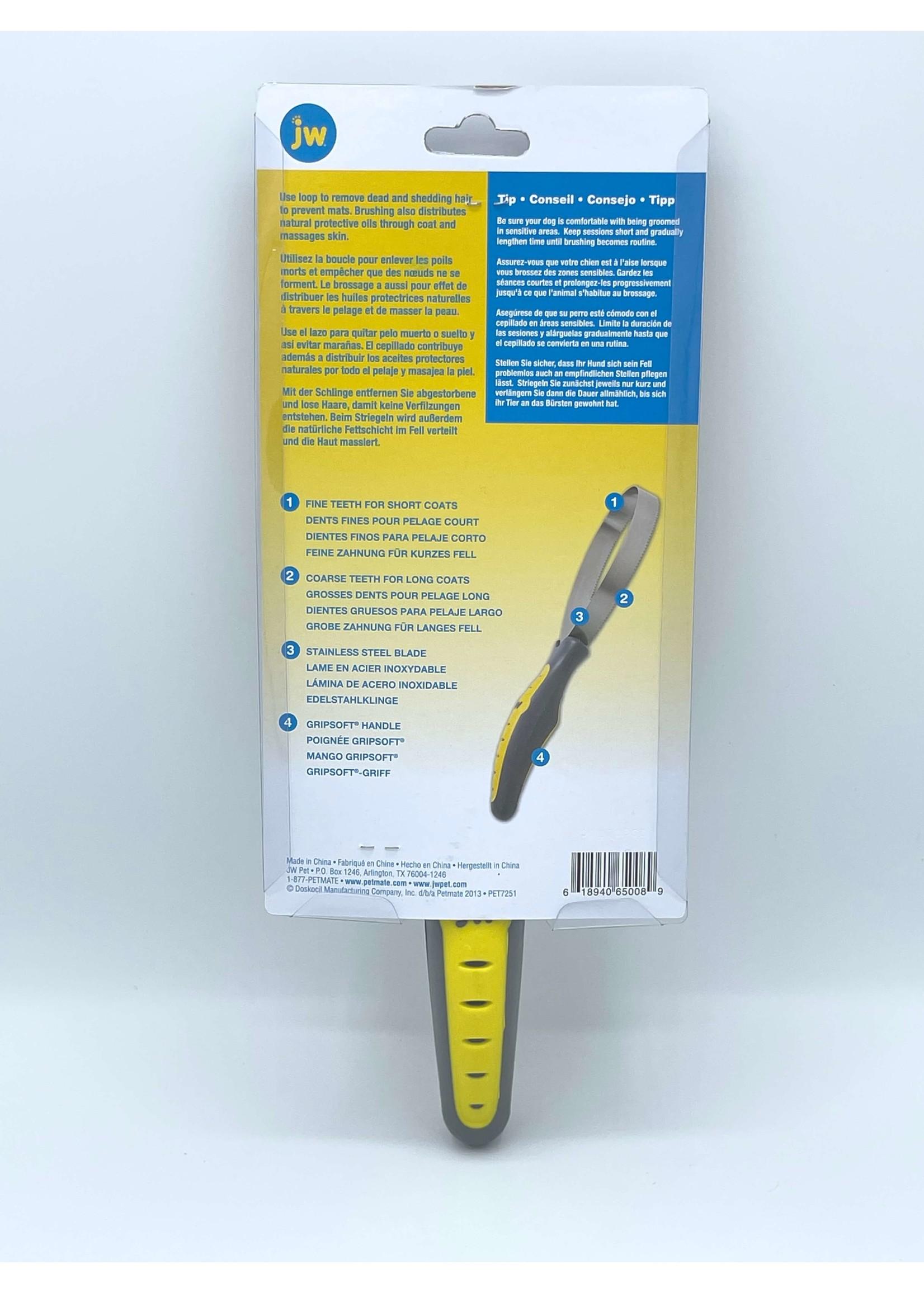 JW JW GripSoft Shedding Blade Dog Brush