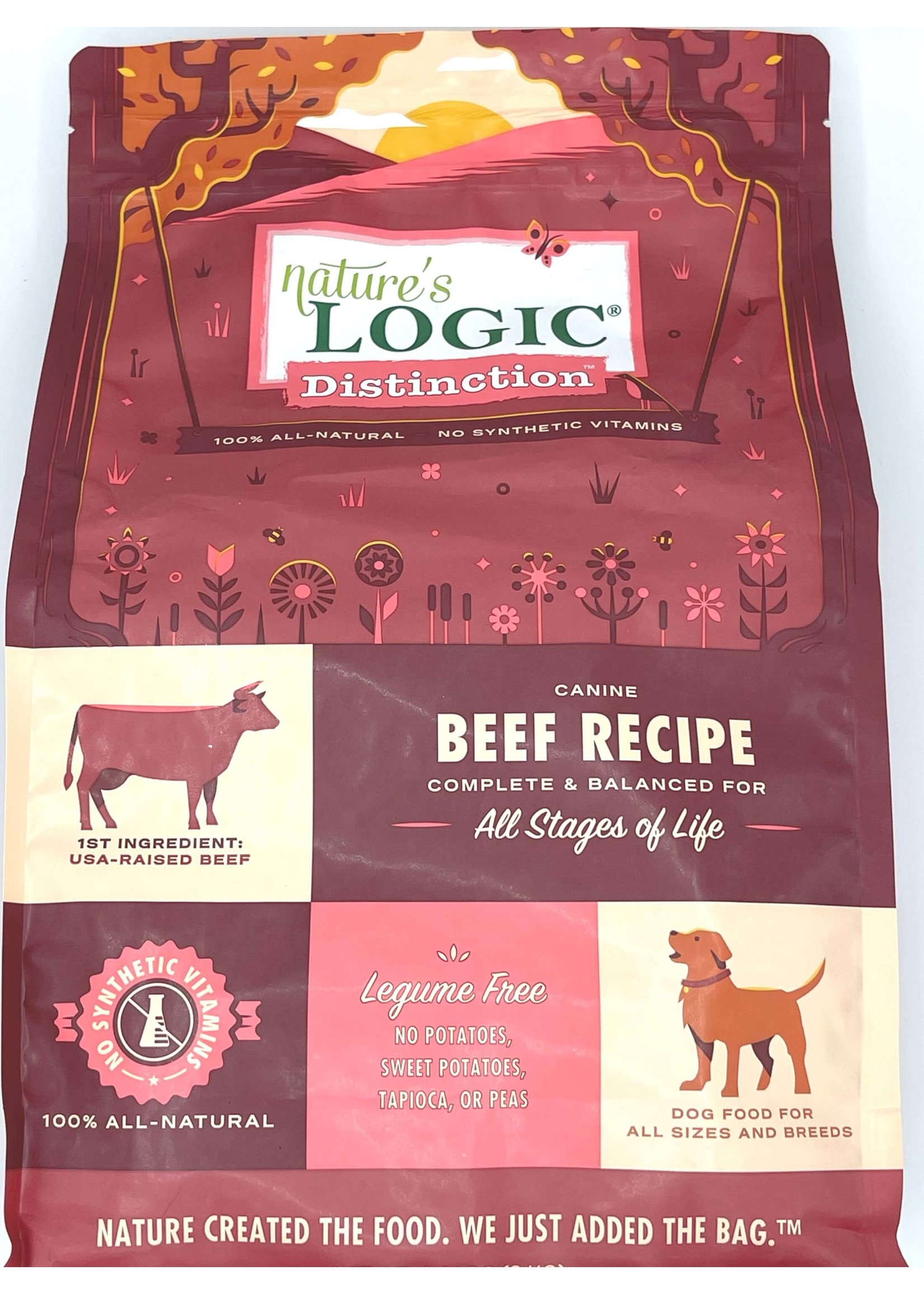Nature's Logic Nature's Logic Distinction Beef Recipe Dog Food 12lb Bag