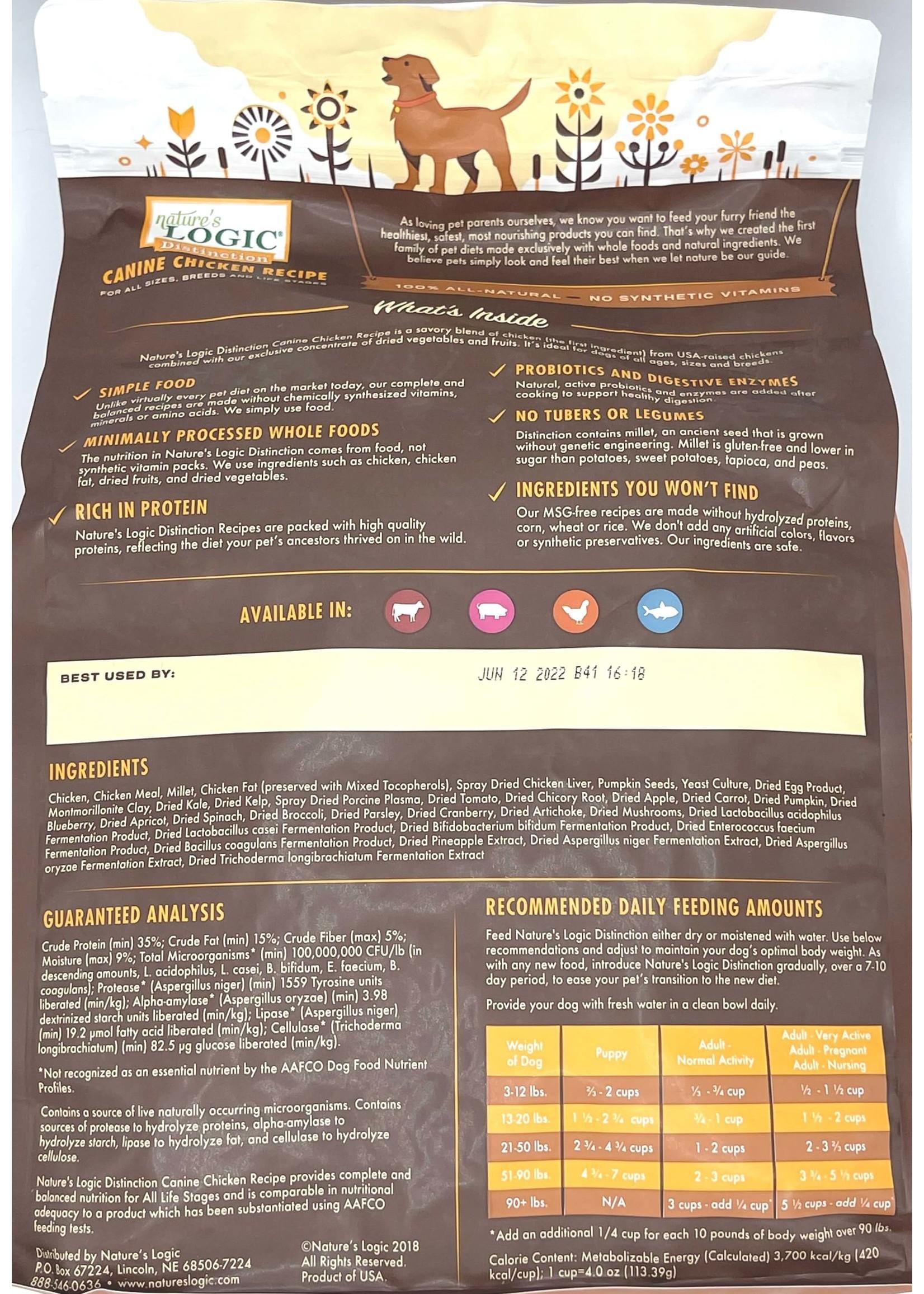 Nature's Logic Nature's Logic Distinction Chicken Recipe Dog Food 4.4lb Bag
