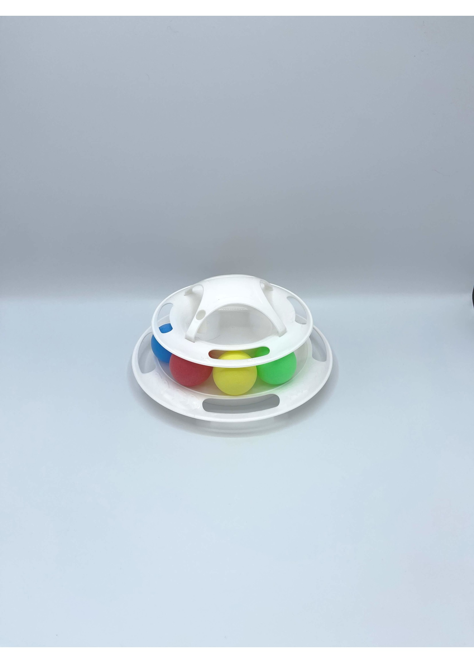 4 Tier Cat Track Toy With Balls