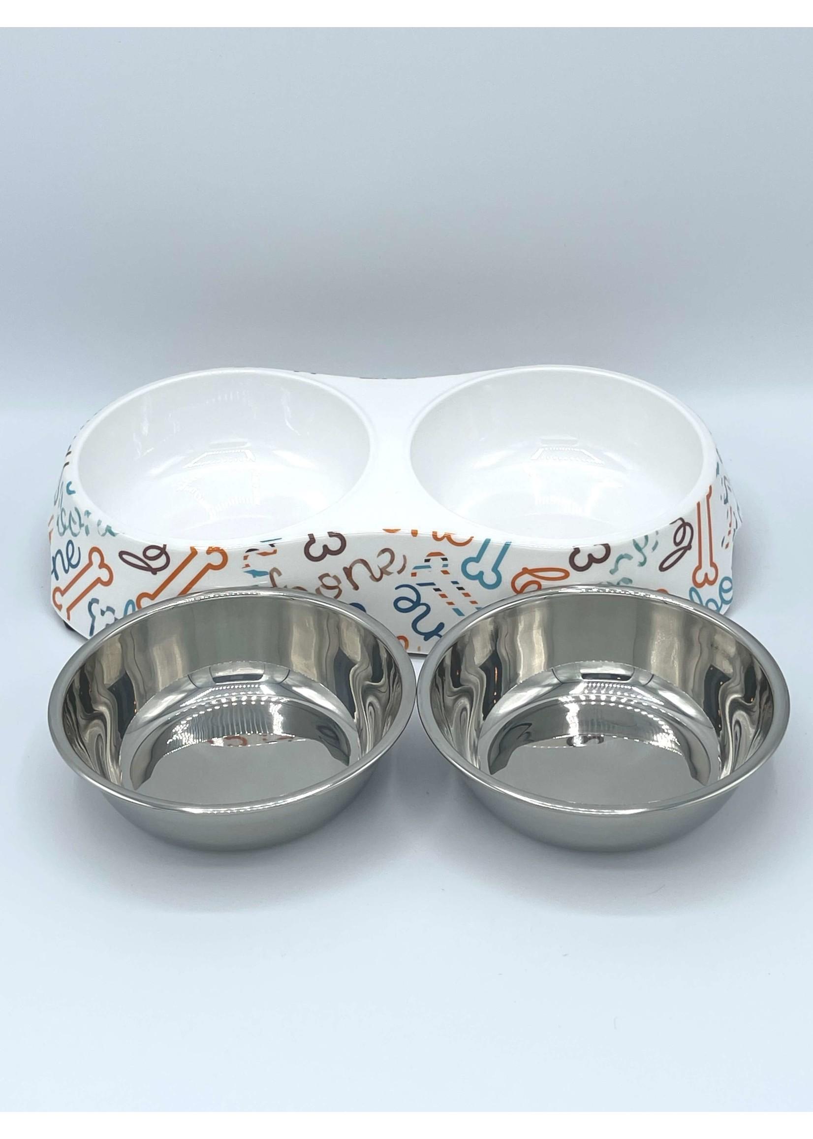 Stainless Steel 2 Bowl Designer Set