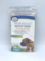 Four Paws Walk-About Quick-Fit Muzzle - Medium Short Snout Breeds