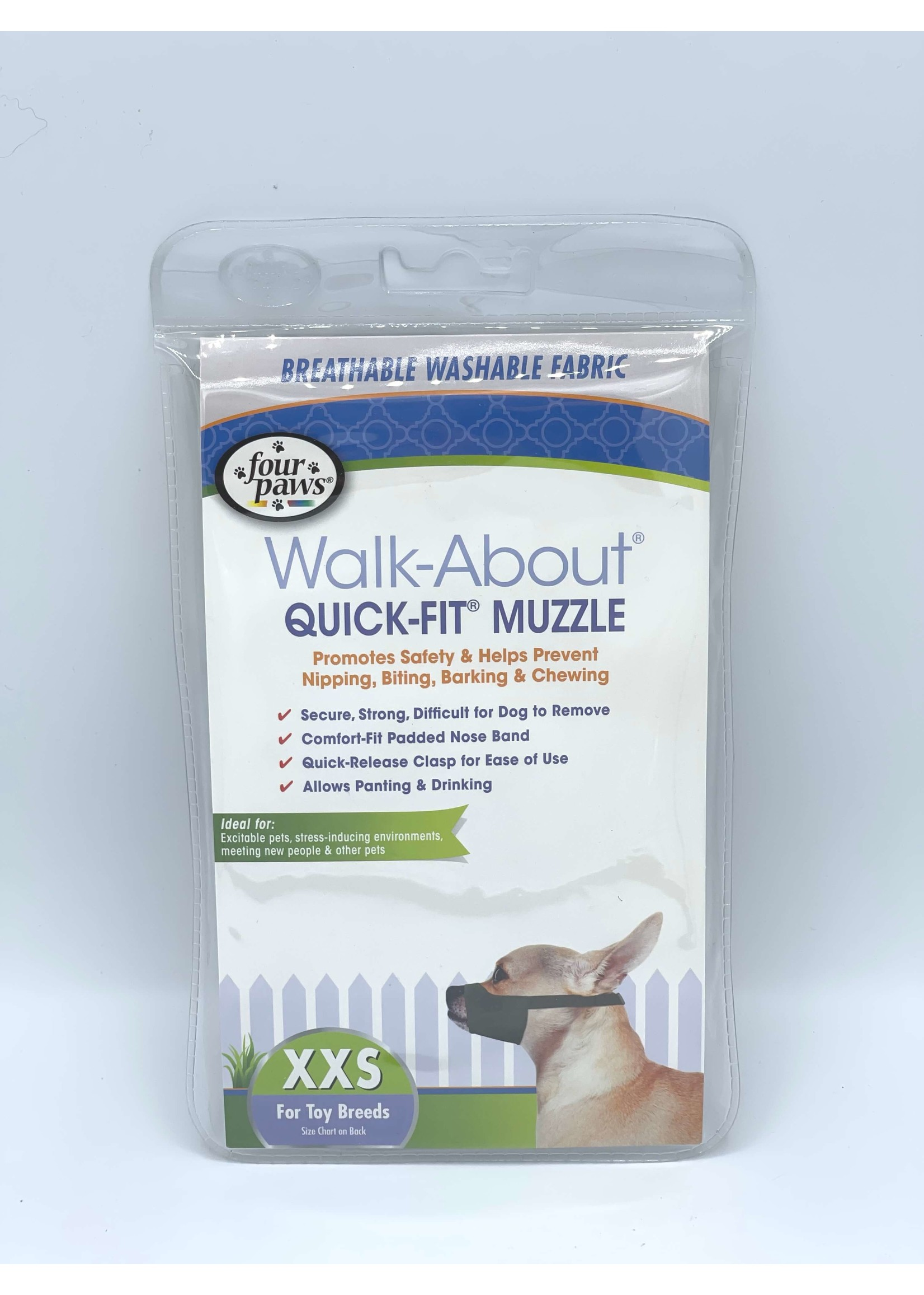 Four Paws Walk-About Quick-Fit Muzzle - Toy Breeds