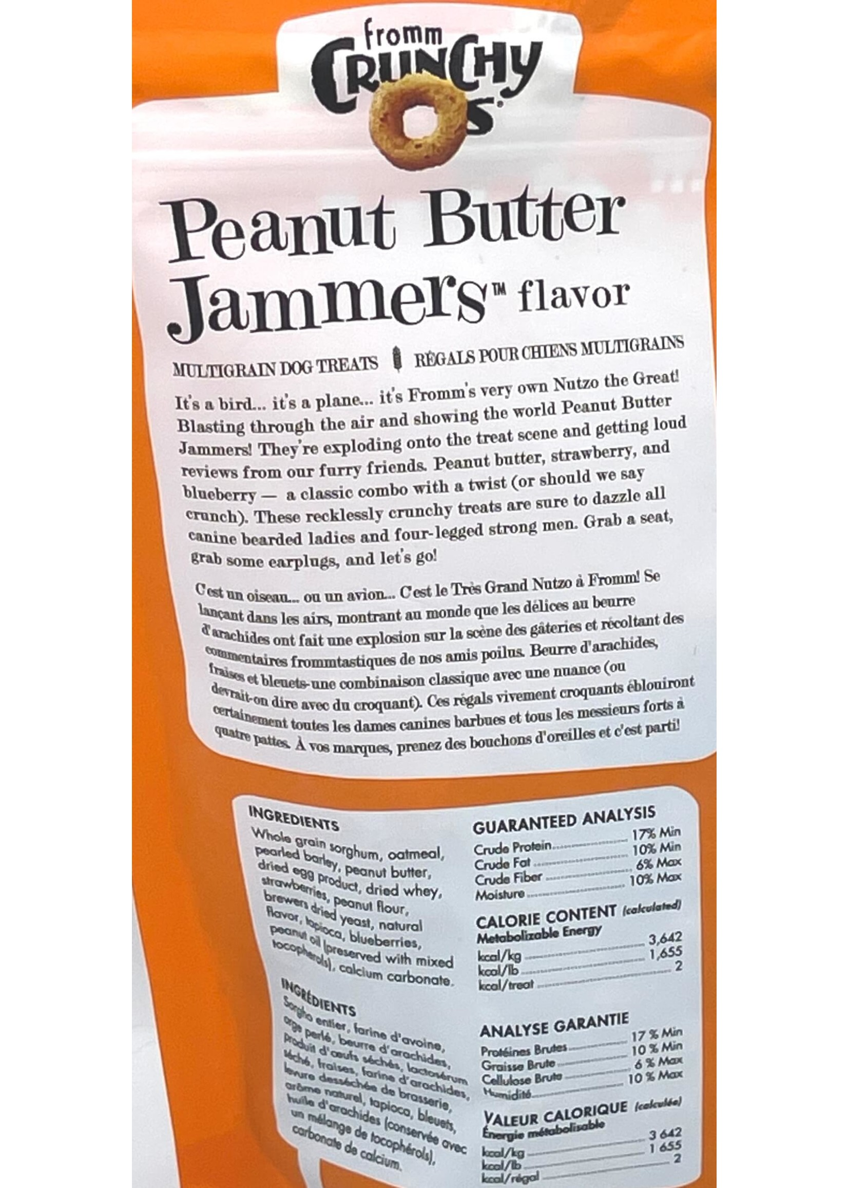 Fromm Fromm Crunchy O's Peanut Butter Jammers Dog Treat 6oz