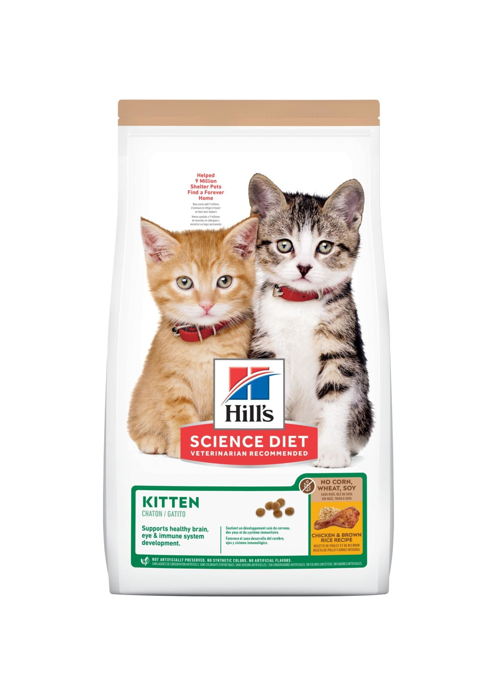 Hill's Science Diet Hill's Science Diet Kitten, No Corn, Wheat, or Soy Cat Food, 6lb Bag