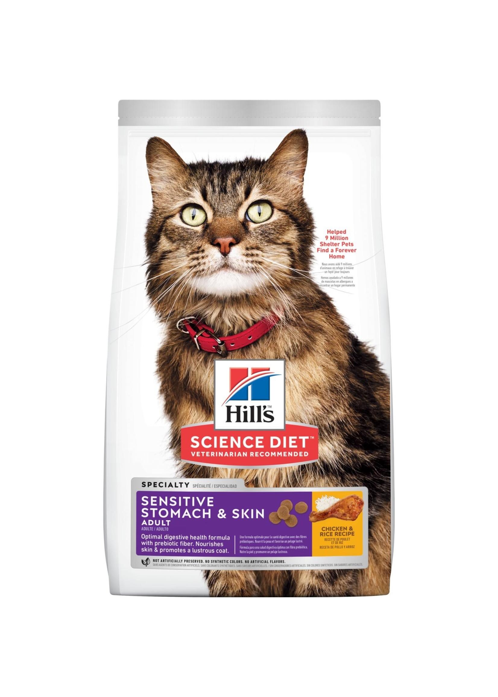 Hill's Science Diet Hill's Science Diet Adult Sensitive Stomach & Skin Cat Food, 3.5lb Bag