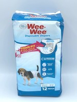 Four Paws Wee-Wee Disposable Dog Diapers, 12 Count