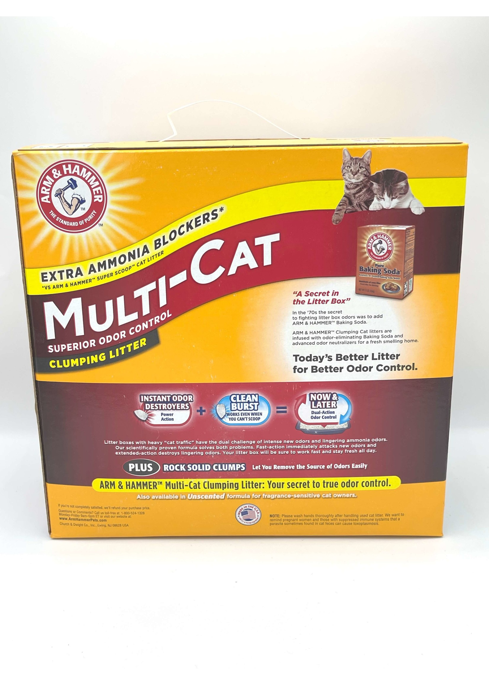 Arm and Hammer Arm and Hammer Multi-Cat Extra Strength Clumping Litter, 20lbs