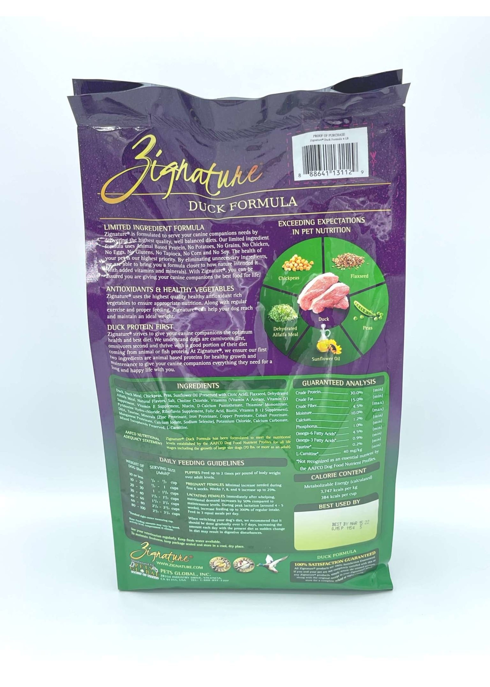 Zignature Zignature Limited Ingredient Formula Dog Food Duck