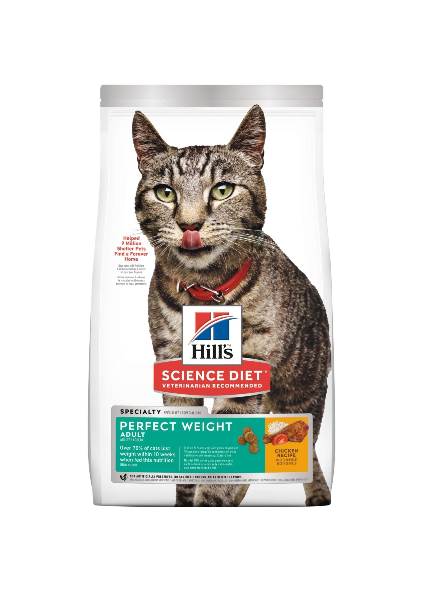 Hill's Science Diet Hill's Science Diet Adult Perfect Weight Dry Cat Food, Chicken Recipe, 3 lb Bag