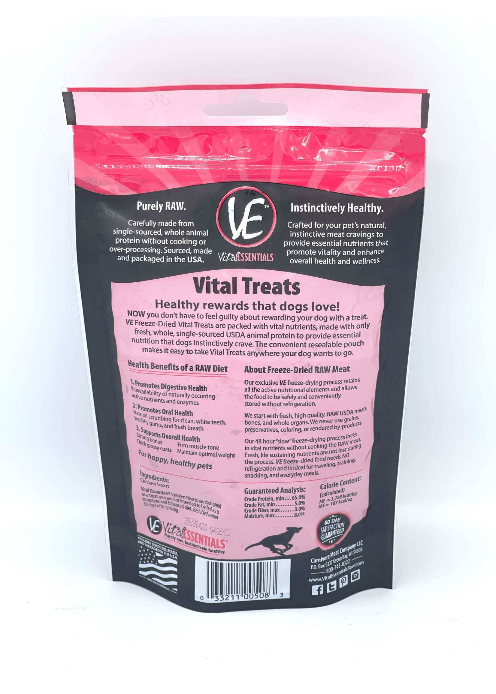 Vital Essentials Vital Essentials Freeze-Dried Chicken Hearts