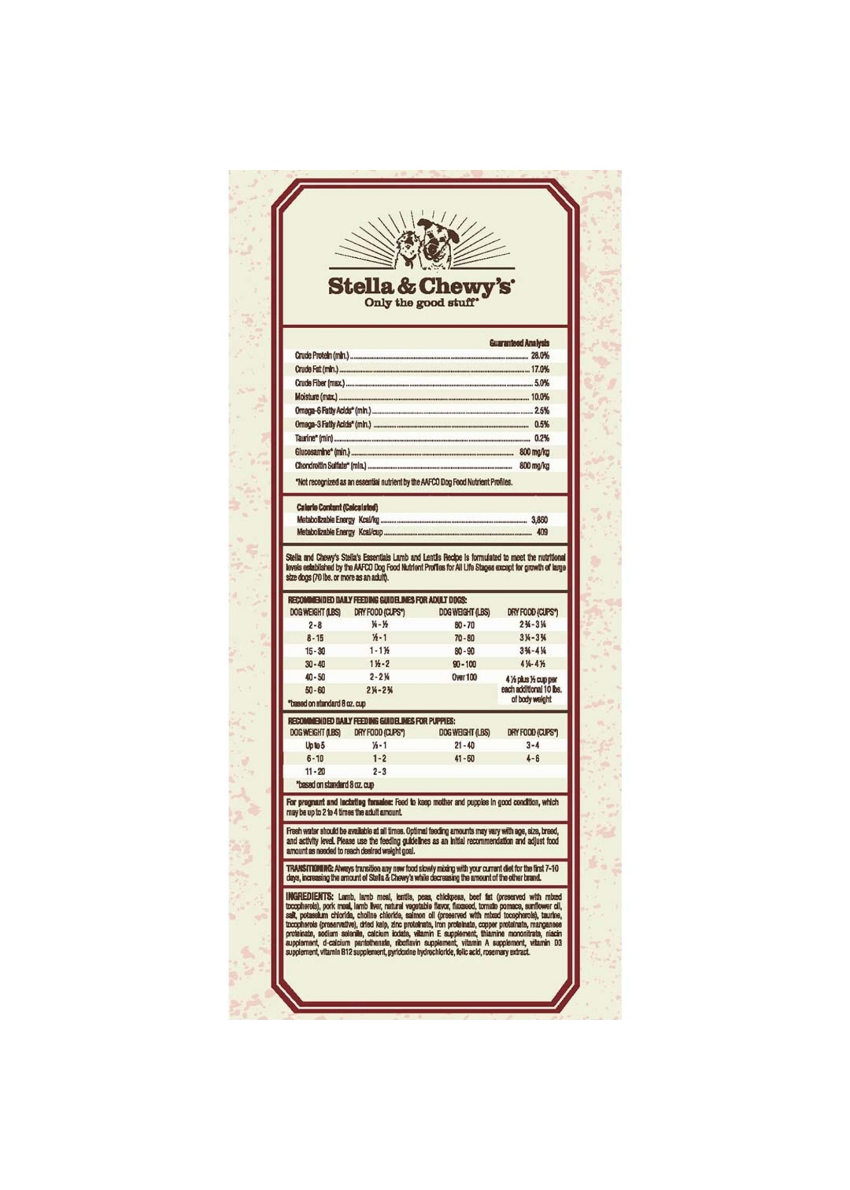Stella & Chewy's Stella's Essentials Grain-Free Wild Mountain Meadow Lamb
