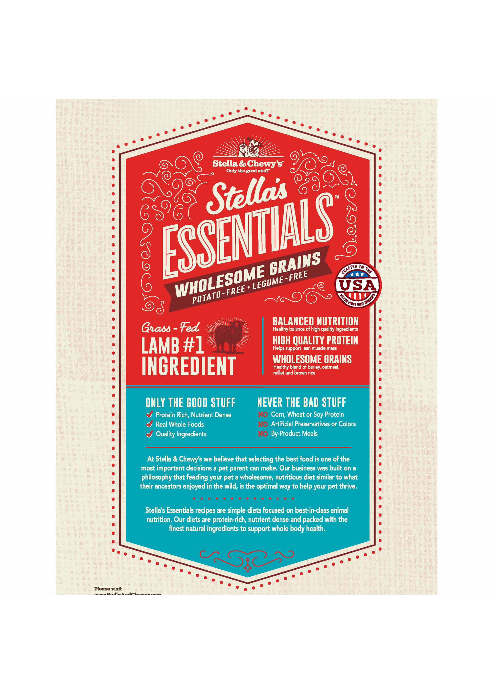 Stella & Chewy's Stella's Essentials Lamb & Ancient Grains