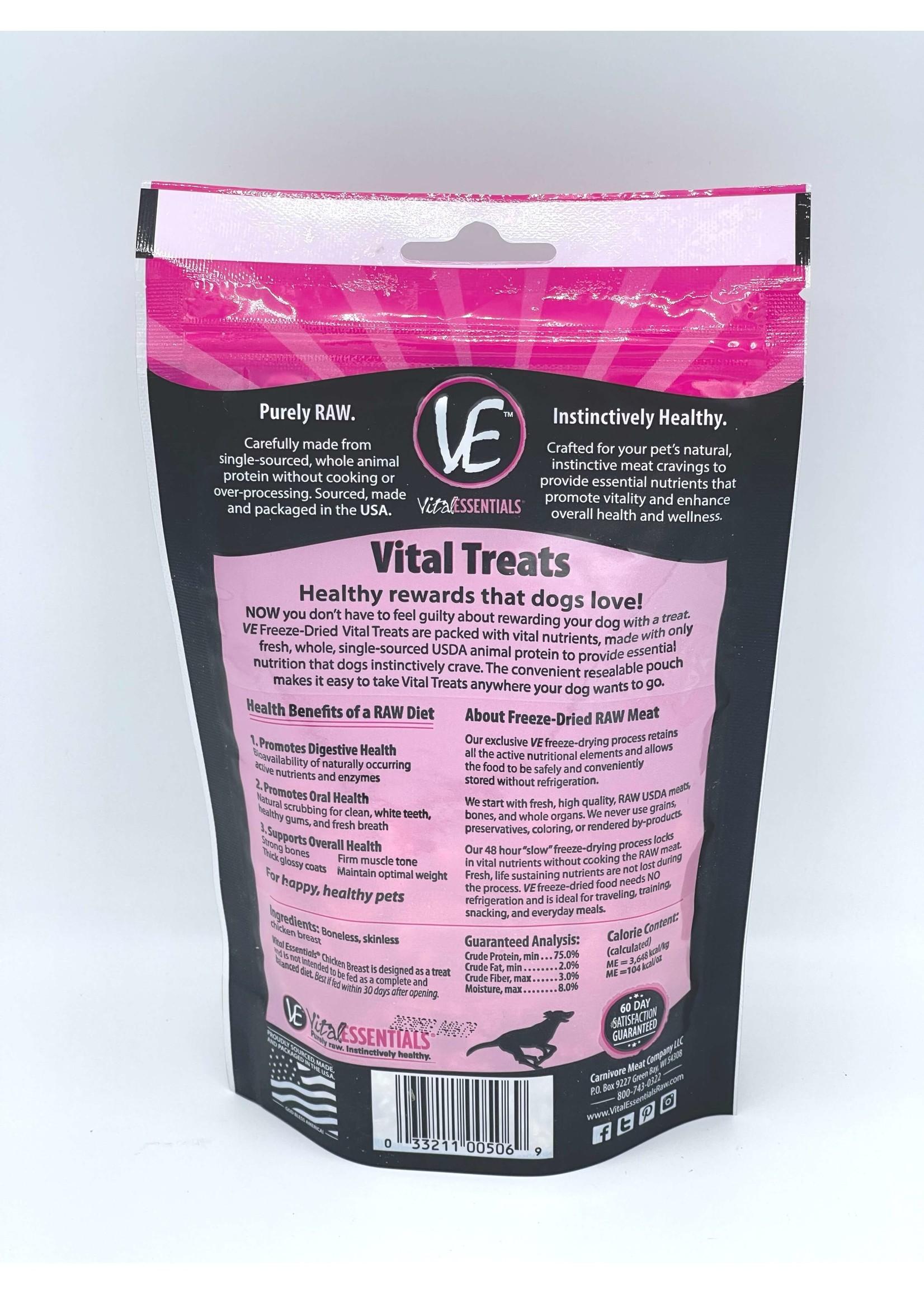 Vital Essentials Vital Essentials Freeze-Dried Chicken Breast Dog Treats