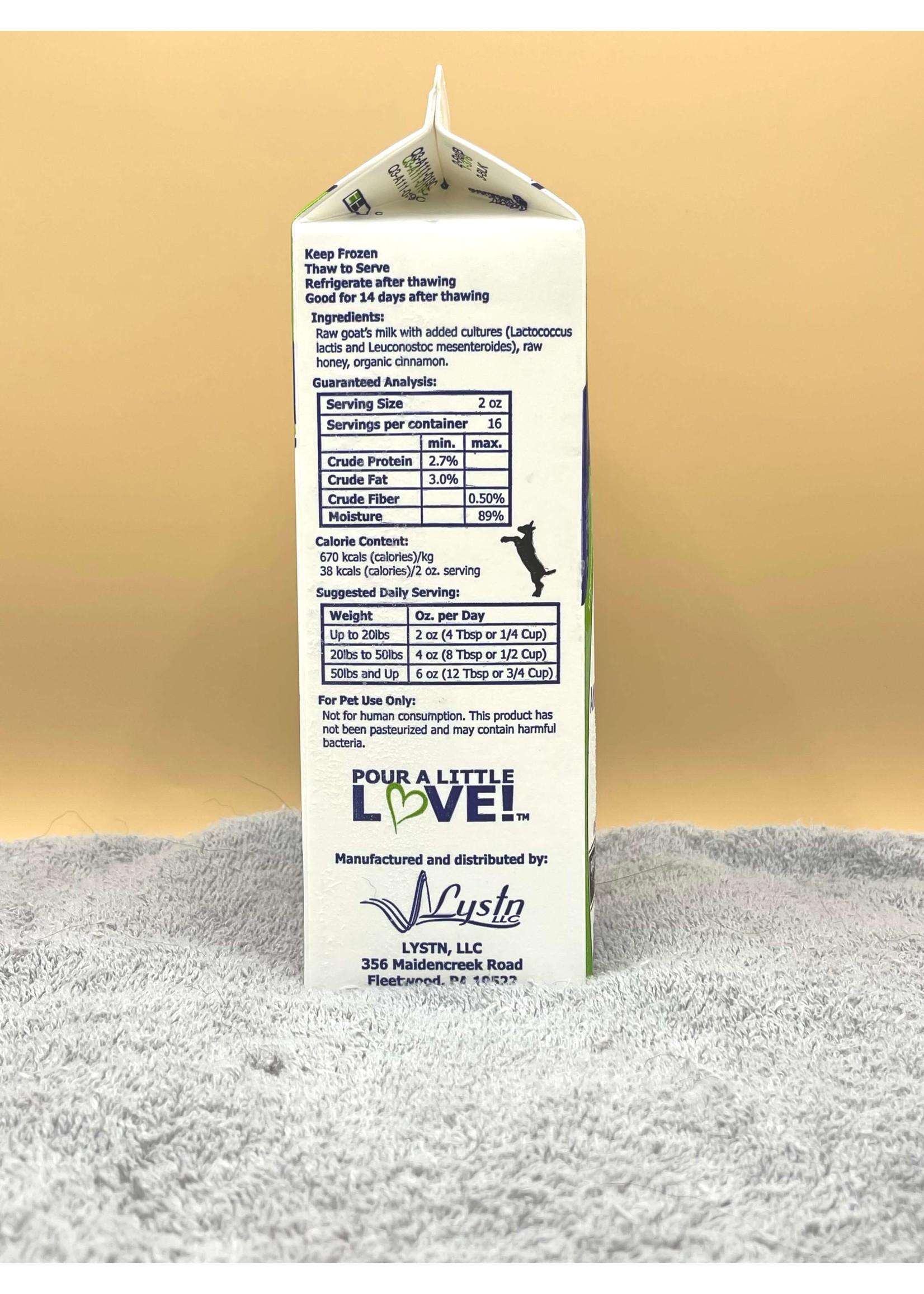 Answers Pet Food Company Answers Raw Goats Milk (Frozen)