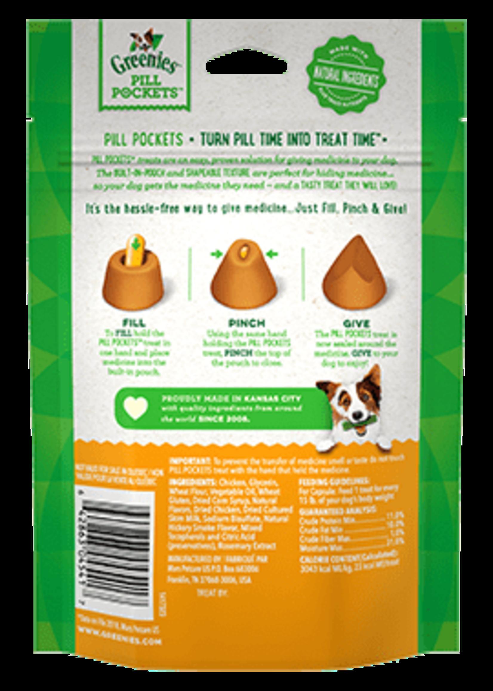 Greenies Greenies Pill Pockets Capsule Size, Chicken Flavor 7.9oz