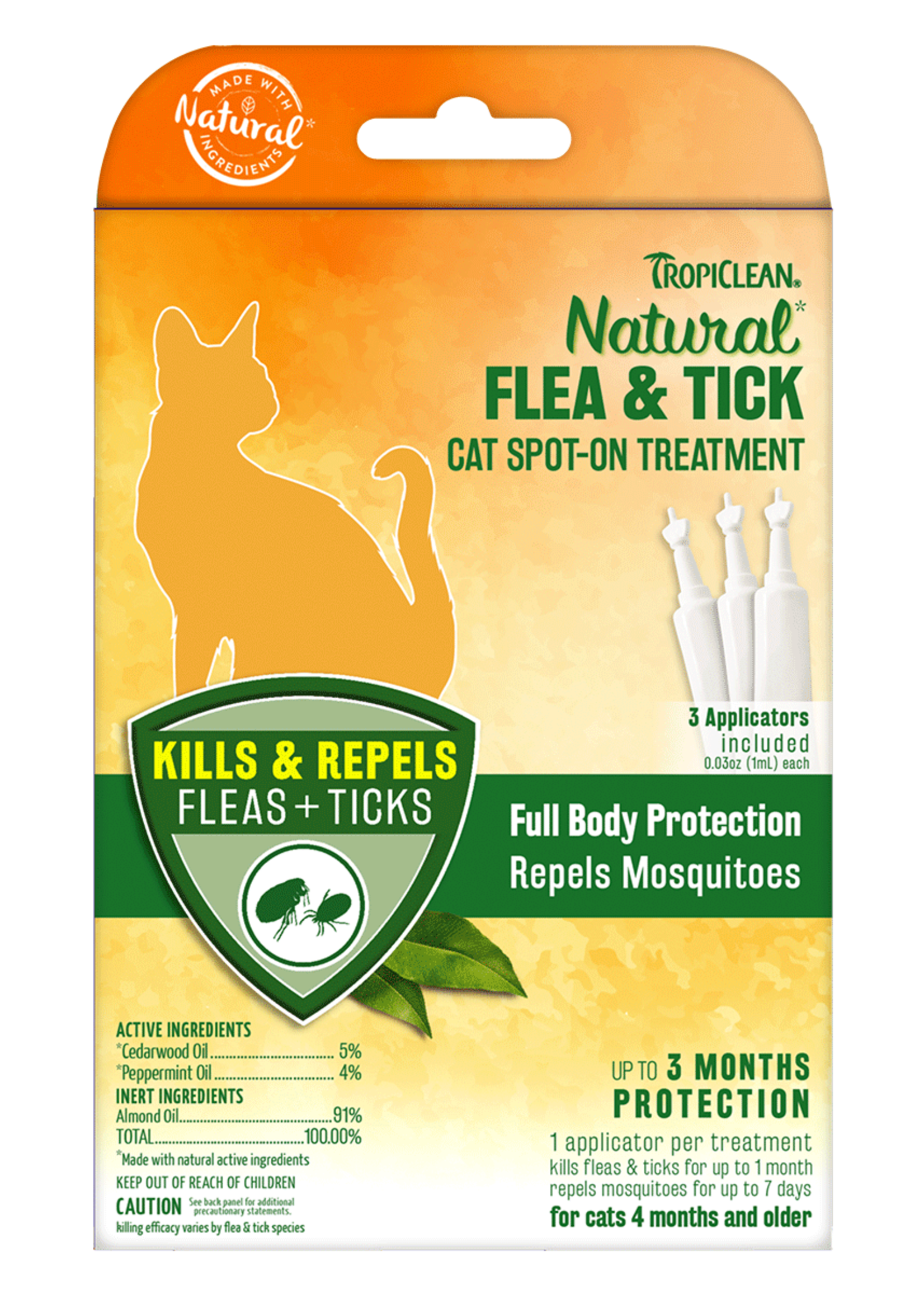 TropiClean TropiClean Cat Flea & Tick Spot-On Treatment