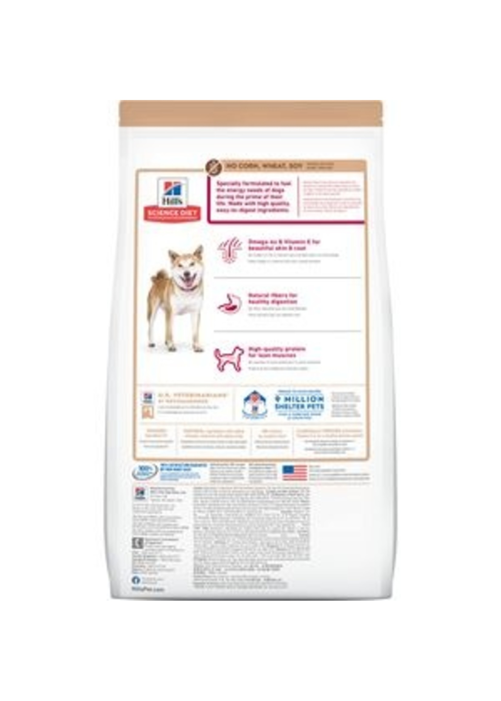 Hill's Science Diet Hill's Science Diet Adult No Corn, Wheat or Soy Dry Dog Food, Chicken, 30 lb Bag