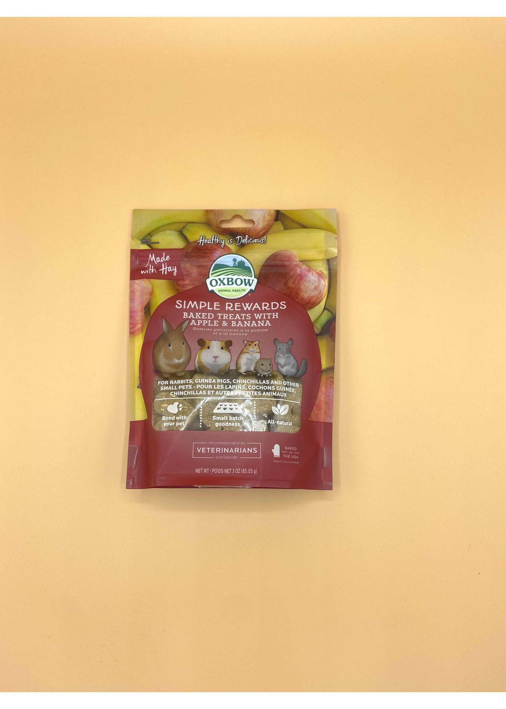 Oxbow Oxbow Simple Rewards Baked Treats - Apple and Banana