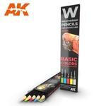 AK Interactive AK-10045 Watercolor Pencil Basics (5 Pack)