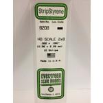 Evergreen Scale Models EVE8208 Styrene HO-Scale 2x8 Strip (10pc)