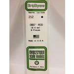 Evergreen Scale Models EVE212 Styrene .080 Rod (6pc)