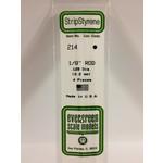 Evergreen Scale Models EVE214 Styrene .125 Rod (4pc)