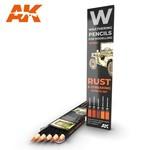 AK Interactive AK-10041 Watercolor Pencil Rust & Streaking (5 Pack)