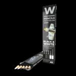 AK Interactive AK-10039 Watercolor Pencil Black & White (5 Pack)