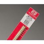 K&S Metals KSE8132 9/32'' OD Round Brass Tube (1pc)