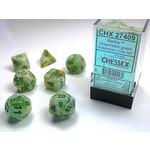 Chessex 27409 Marble 7pc Green/Dark Green RPG Dice