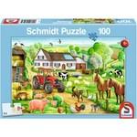 Schmidt SCH56003 Merry Farmyard (Puzzle100)