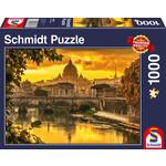 Schmidt SCH58393 Golden Light Over Rome (Puzzle1000)