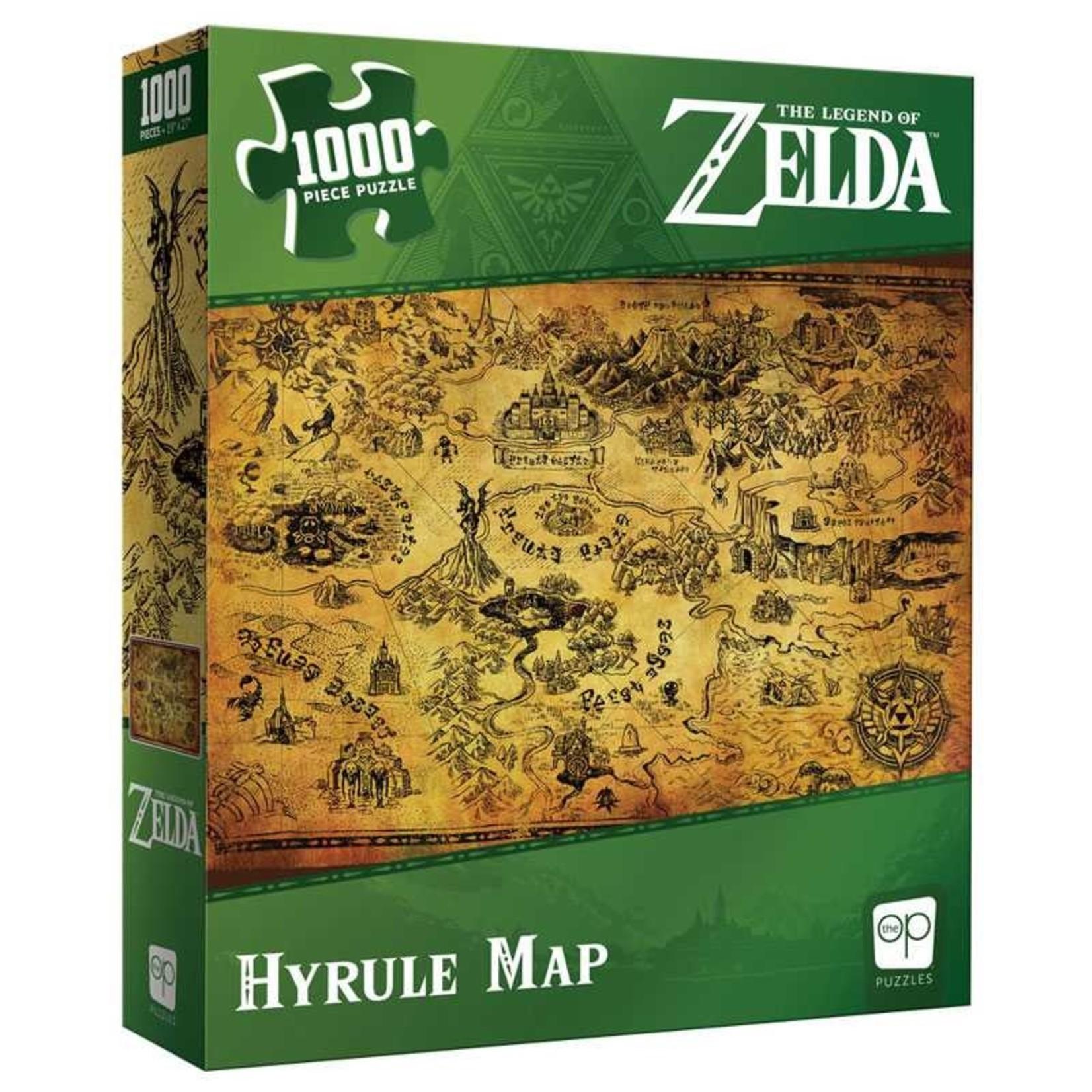 USAopoly USAPZ Zelda Hyrule Map (Puzzle1000)