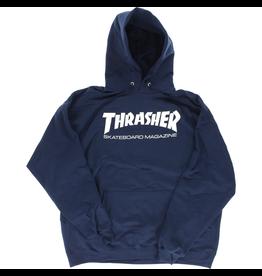 THRASHER THRASHER SKATE MAG HOODY - NAVY/WHITE