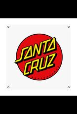 SANTA CRUZ CALASSIC DOT BANNER IN WHITE 36 in X 36 in IN EACH UNISEX SANTA CRUZ