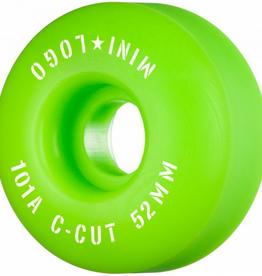 "MINI LOGO Mini Logo Skateboard Wheels C-cut ""2"" 52mm 101A Green 4pk"