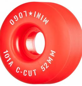 "MINI LOGO Mini Logo Skateboard Wheels C-cut ""2"" 52mm 101A Red 4pk"