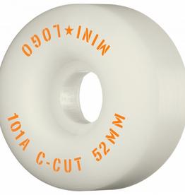 "MINI LOGO Mini Logo Skateboard Wheels C-cut ""2"" 52mm 101A White 4pk"