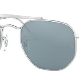 RAYBAN THE MARSHAL SILVER WITH AZURE/BLUE MIRROR LENS
