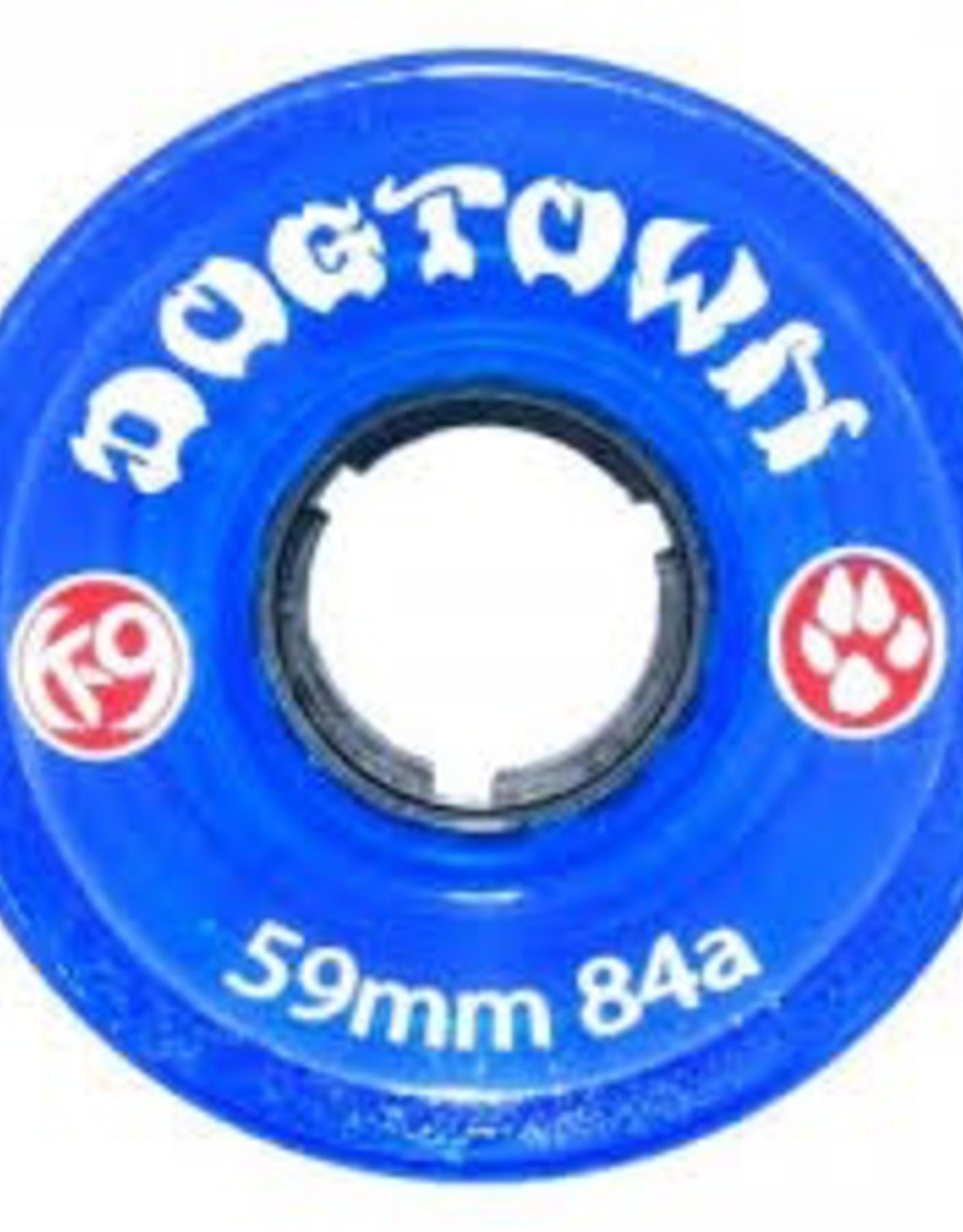 DOGTOWN DOGTOWN K-9 WHEELS 59MM x 84A, CLEAR BLUE