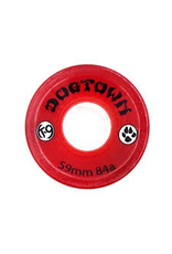 DOGTOWN DOGTOWN K-9 WHEELS 59MM x 84A, CLEAR RED