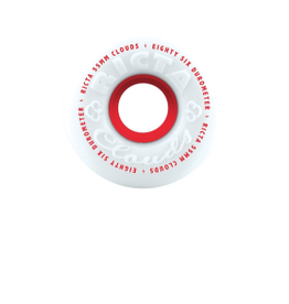 RICTA RICTA CLOUDS 53MM 86A WHT/RED WHEELS