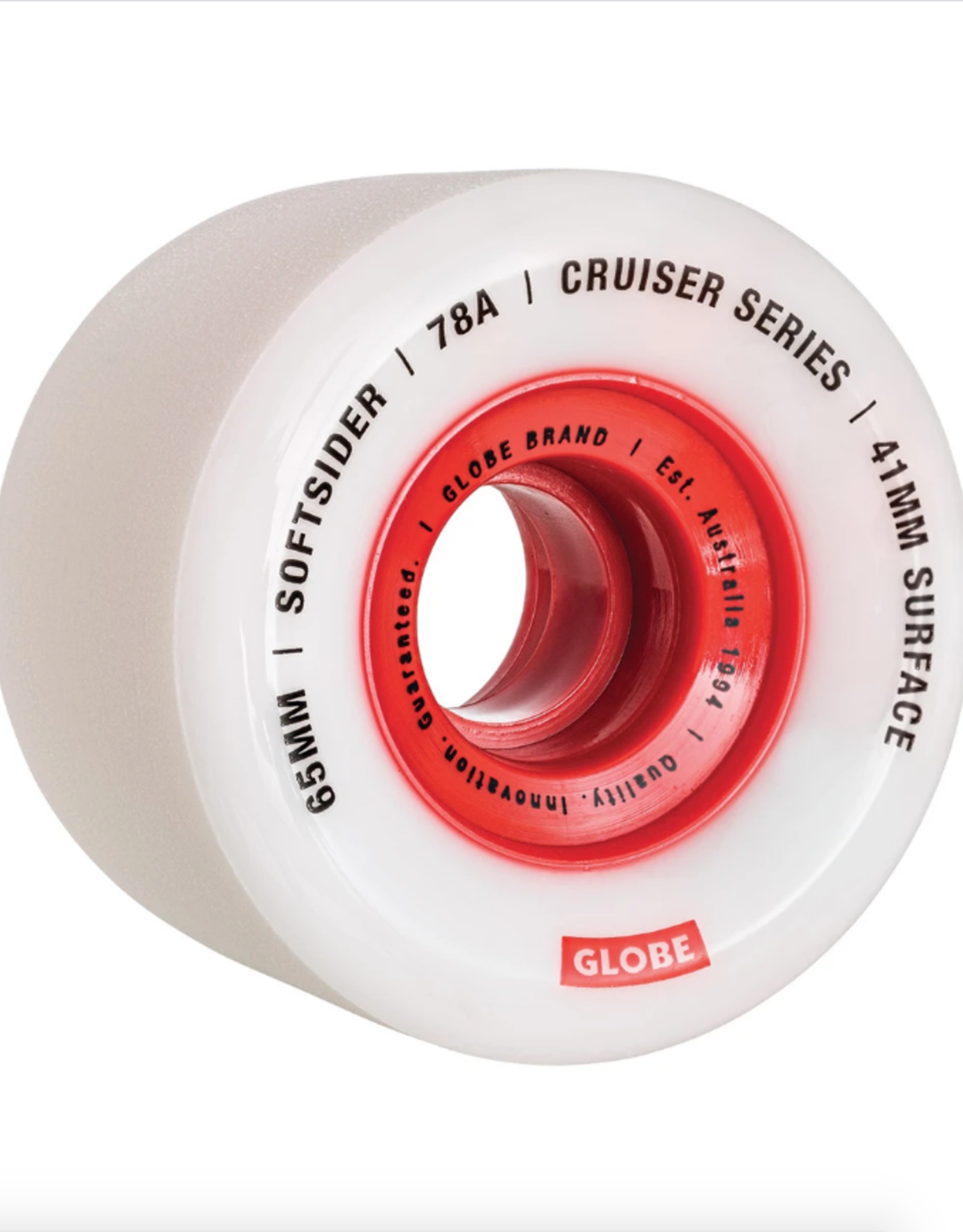 GLOBE Softsider Cruiser Wheel 65MM White/Red