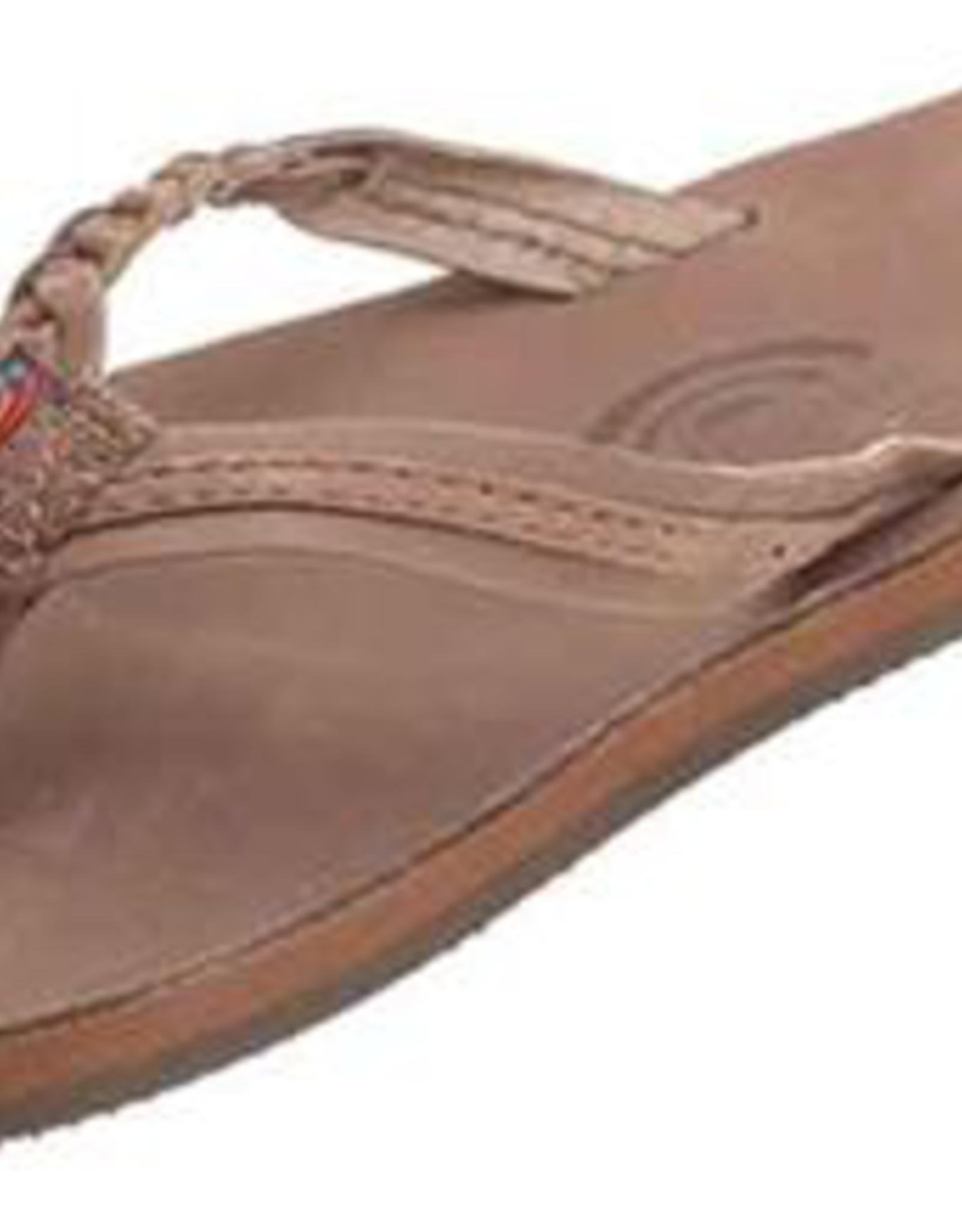 Rainbow Sandals KIDS FLIRTY BRAIDY PREMIER DARK BROWN